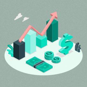 Imagem de gráfico mostra crescimento em investimentos