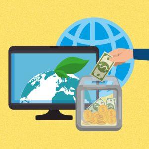 Ilustração mostra investimento de impacto em prol do planeta